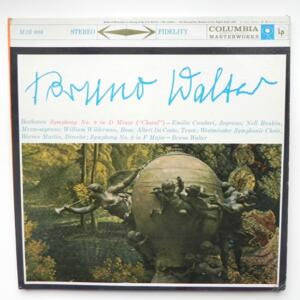 Beethoven Symphony No. 9 in D Minor (Choral) + Sympnony No. 8 / Columbia Symphony Orchestra -  Bruno Walter  --  Doppio LP 33 giri - Made in USA