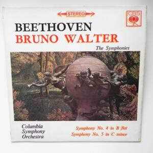Beethoven - SYMPHONY NO.4 IN B FLAT and NO. 5 IN C MINOR /  Columbia Symphony Orchestra conducted by Bruno Walter   --  LP 33 giri - Made in UK