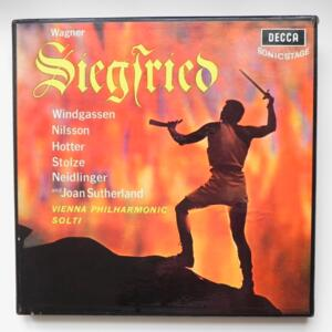 Wagner - SIEGFRIED / Vienna Philharmonic conducted by Solti  -- Cofanetto 5 LP 33 giri - Made in UK