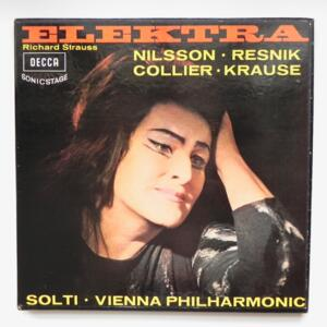 R. Strauss ELEKTRA / Vienna Philharmonic conducted by Solti -- Cofanetto 2 LP 33 giri - Made in UK