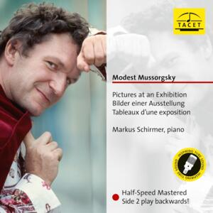 Modest Mussorgsky  - Pictures at an Exhibition - Markus Schirmer, piano  --  LP 33 giri 180 gr. - Side 2 con incisione da esterno all'interno! - Made in Germany