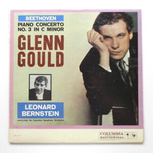 Beethoven PIANO CONCERTO NO. 3 IN C MINOR / Glenn Gould / The Columbia  Symphony Orchestra conducted by L. Bernstein  --  LP 33 giri - Made in USA