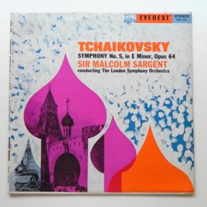 Tchaikovsky SYMPHONY NO. 5  IN E MINOR OPUS 64  / The London Shymphony Orchestra conducted by Sir Malcolm Sargent  --  LP 33 giri - Made in USA