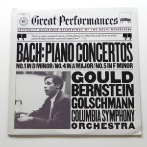 Bach THREE PIANO CONCERTOS (NOS. 1,5 & 5) / Glenn Gould /  Columbia Symphony Orchestra conducted by Bernstein   --  LP 33 giri - Made in Canada