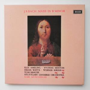 J.S. Bach MASS IN B MINOR /Stuttgart Chamber Orchestra conducted by Karl Munchinger  -- Boxset Double  LP 33 rpm - Made in UK