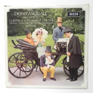 Donizetti DON PASQUALE Highlights  / Vienna Opera Orchestra and Chorus conducted by Kertesz --  LP 33 giri - Made in UK