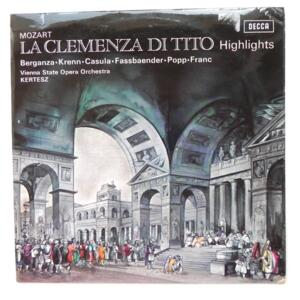 Mozart LA CLEMENZA DI TITO Highlights  / Vienna State Opera Orchestra  conducted by Kertesz --  LP 33 giri - Made in UK
