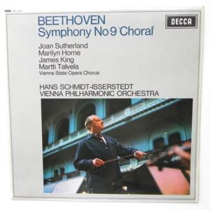 """Beethoven SYMPHONY NO 9 """"CHORAL"""" / Vienna Philharmonic Orchestra conducted by Hans Schmidt-Isserstedt --  LP 33 rpm - Made in UK"""