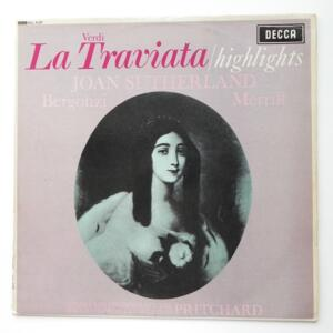 Verdi LA TRAVIATA Highlights / with Chorus and Orchestra of the Maggio Musicale Fiorentino conducted by John Pritchard --  LP 33 rpm - Made in UK