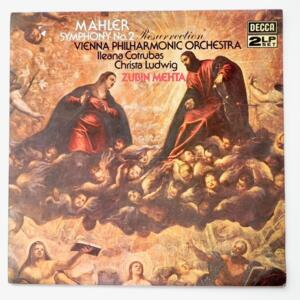 Mahler SYMPHONY NO. 2 RESURRECTION / Vienna Philharmonic Orchestra  conducted by Zubin Mehta --  Doppio LP 33 giri - Made in UK