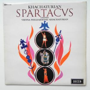 Khachaturian SPARTACUS - GAYANEH / Vienna Philharmonic conducted by Khachaturian  --  LP 33 rpm - Made in UK