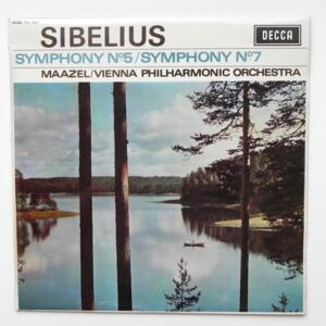 Sibelius SYMPHONY NO. 5- SYMPHONY NO. 7 / Vienna Philharmonic Orchestra conducted by Maazel --  LP 33 giri - Made in UK - PRIMA STAMPA 1966