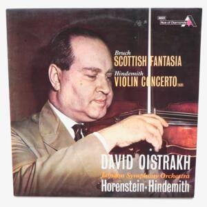 Bruch SCOTTIH FANTASIA - Hindemith VIOLIN CONCERTO / David Oistrakh - London Symphony Orchestra dir. Horenstein- Hindemith  --  LP 33 giri - Made in UK - DECCA SDDI 465