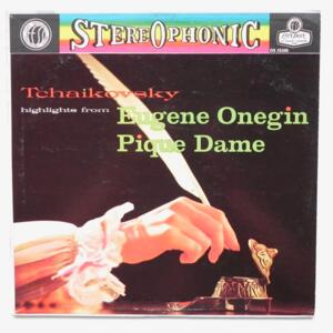 Tchaikovsky HIGHTLIGHTS FROM EUGENE ONEGIN - PIQUE DAME / National Opera , Belgrade dir. O. Danon & K. Baronovich  --  LP 33 giri  - Made in USA/UK - LONDON  OS 25205