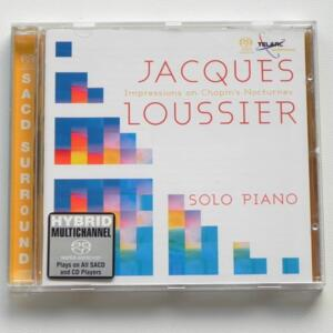 Impressions on Chopin's Nocturnes / Jacques Loussier, solo piano  --  HYBRID SACD - Made in EU/USA - TELARC SACD 63602