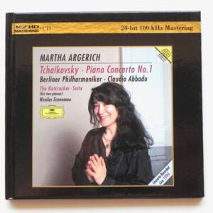Tchaikovsky PIANO CONCERTO NO.1 - NUTCRACKER SUITE / Martha Argerich / Berliner Philharmoniker - C. Abbado, conductor  --  K2 HD CD - Made in Japan - UNIVERSAL 480 862-0 - EDIZIONE LIMITATA NUMERATA