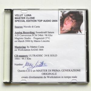 Nuvole di Carta / Paola Casula  --  CD MASTER CLONE - Made in ITALY by VELUT LUNA - CD APERTO