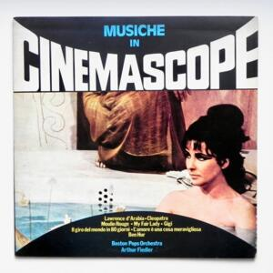 Musiche in Cinemascope (Music from Million Dollar Movies)  / Boston Pops Orchestra - conductor A. Fiedler  --  LP 33 giri  - Made in ITALY by RCA -TCL1 7010 - COPIA PROMO - LP APERTO