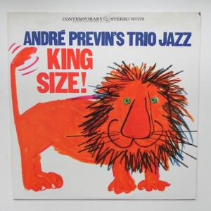 King Size / André Previn's Trio Jazz  --  LP 33 giri - Made in Japan - CONTEMPORARY - LAX 3041- LP APERTO