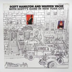 Scott Hamilton and Warren Vaché with Scott's Band in New York City / Scott Hamilton and Warren Vaché  --  LP 33 giri - Made in Japan - CONCORD JAZZ - ICJ-70177 - LP APERTO