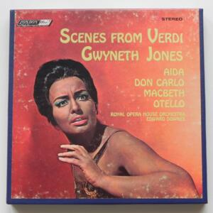 Scenes from Verdi / Gwyneth Jones / Royal Opera House Orchestra Conductor E. Downes / LONDON -  L 90158 - Nastro Magnetico Registrato su bobina da 18 cm - 4 tracce - Velocità 19 cm/sec - Originale