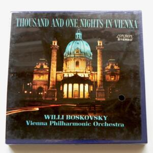 Thousand and One Nights in Vienna / Vienna Philharmonic Orchestra / LONDON - LCL 80099  - Nastro Magnetico Registrato su bobina da 18 cm - 4 tracce - Velocità 19 cm/sec - Originale e SIGILLATO