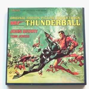 Thunderball (Original James Bond Movie Soundtrack) / John Barry / UNITED ARTISTS - UAC 5132 - Nastro Magnetico Registrato su bobina da 18 cm - 4 tracce - Velocità 19 cm/sec - Originale