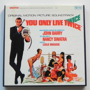 You Only Live Twice  (Original James Bond Movie Soundtrack) / John Barry / UNITED ARTISTS - UAC 5155 - Nastro Magnetico Registrato su bobina da 18 cm - 4 tracce - Velocità 19 cm/sec - Originale