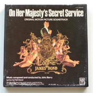 On Her Majesty's Secret Service (Original Soundtrack) / J. Barry / UNITED ARTISTS - UST 5204-A - Nastro Magnetico Registrato su bobina da 18 cm - 4 tracce - Velocità 19 cm/sec - Originale