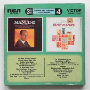 The Best of Mancini Vol 2 / The Big Latin Band of Henry Mancini / RCA / TP3-5067 - Nastro Magnetico Registrato su bobina da 18 cm - 4 tracce - Velocità 9,5 cm/sec - Originale