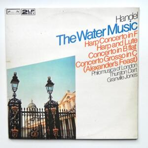 Handel THE WATER MUSIC / Philomusica of London - Dart-Jones  --  Doppio LP 33 giri - Made in UK - L'OISEAU LYRE - DPA 597-8 - LP APERTO