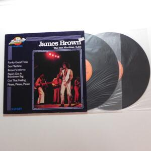 The Sex Machine Live / James Brown  --  Doppio LP 33 giri - Made in W-Germany - TIME WIND COLLECTION -  LP APERTO