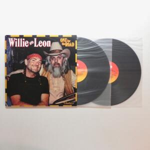 One For The Road / Willie & Leon  -- Doppio LP 33 giri  - Made in Holland - CBS - LP APERTO