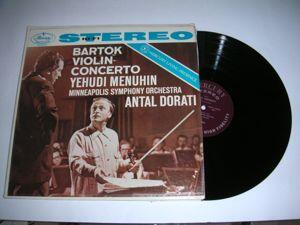 Violin Concerto - Bartok / Yehudi Menuhin, Antal Dorati & Minneapolis Symphony Orchestra  --  LP 33 giri Made in USA